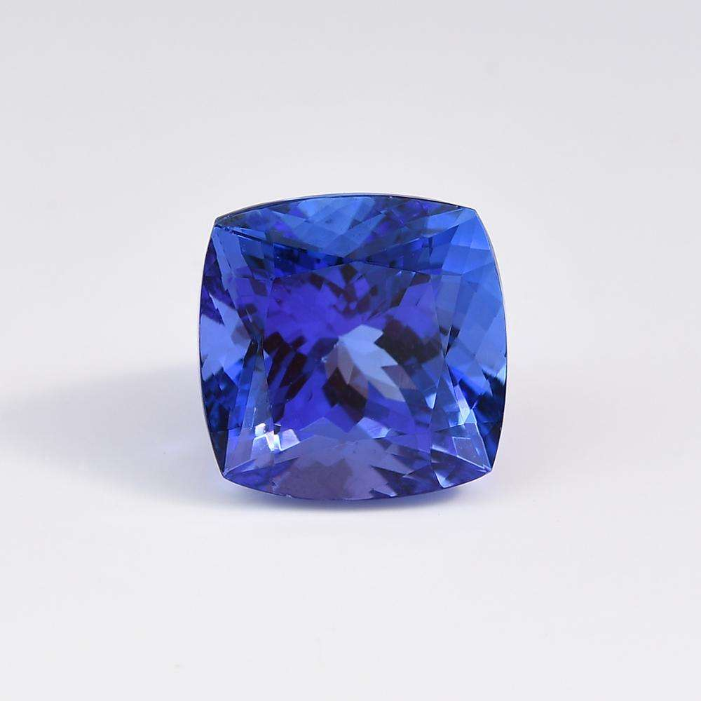 9.95x9.87mm Cushion Natural Premium Quality Faceted Tanzanite for Jewellery