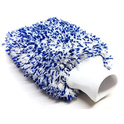 PREMIUM KOREAN Microfiber CAR WASH MITT LONG PILE 1500GSM BLUE SCRATCH FREE