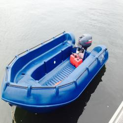 Whaly 310 High Quality Polyethylene inflatable Work Boat