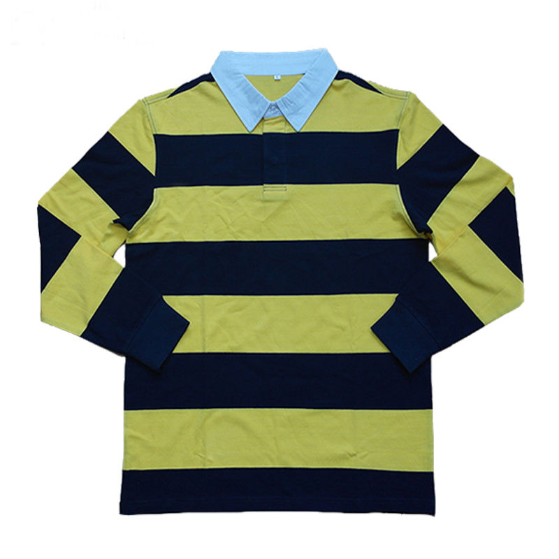 yellow / navy blue customized polo shirts