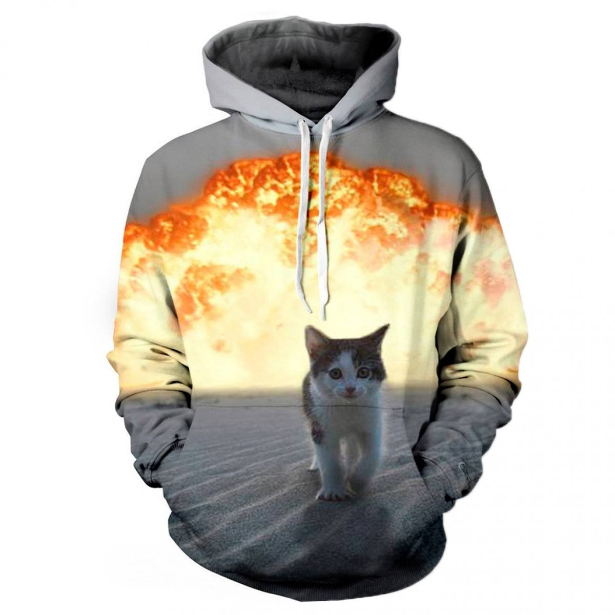 Hooded sweatshirt high fashion pullover mens fitness jacket hoodie custom sublimation hoodie 2020