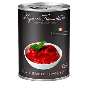 Factory Price - 100% Organic Tomato Paste From Italy in 400g Can Easy Open