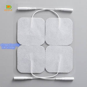 TENS replacement pads tens gel pad with wires physiotherapy electrodes pad