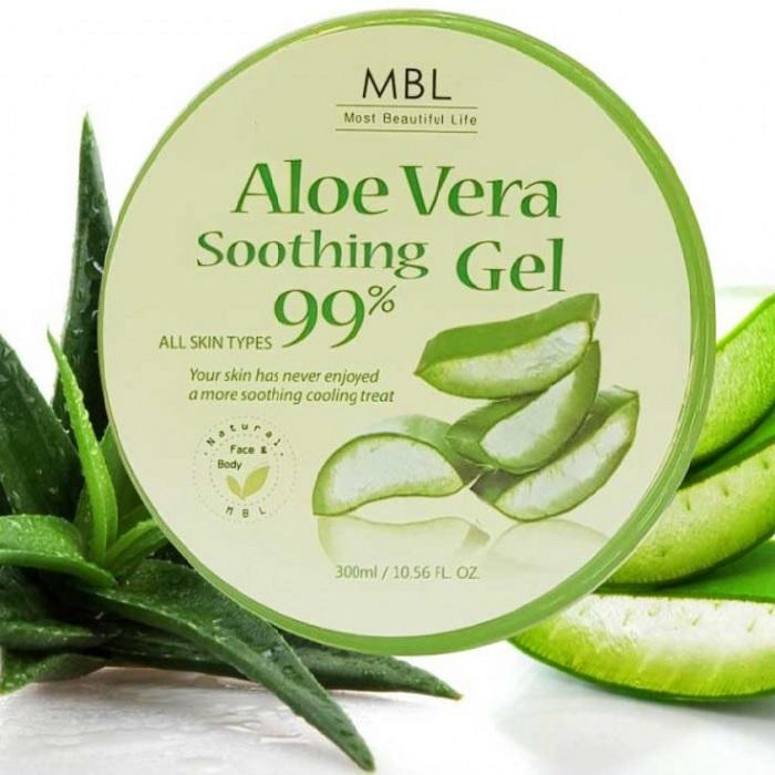 Korean Cosmetics Organic SOOTHING & MOISTURE Aloe Vera Gel 99% Genuine Made in Korea 300ml Skin Care