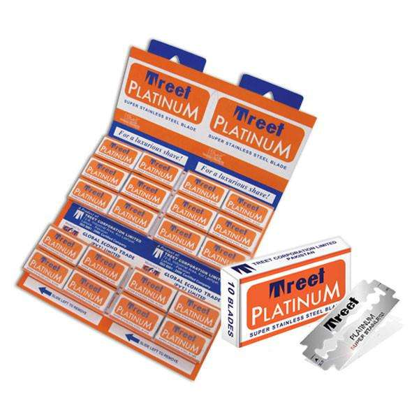 Treet Platino lame da barba Double Edge Razor blades, Usa E Getta