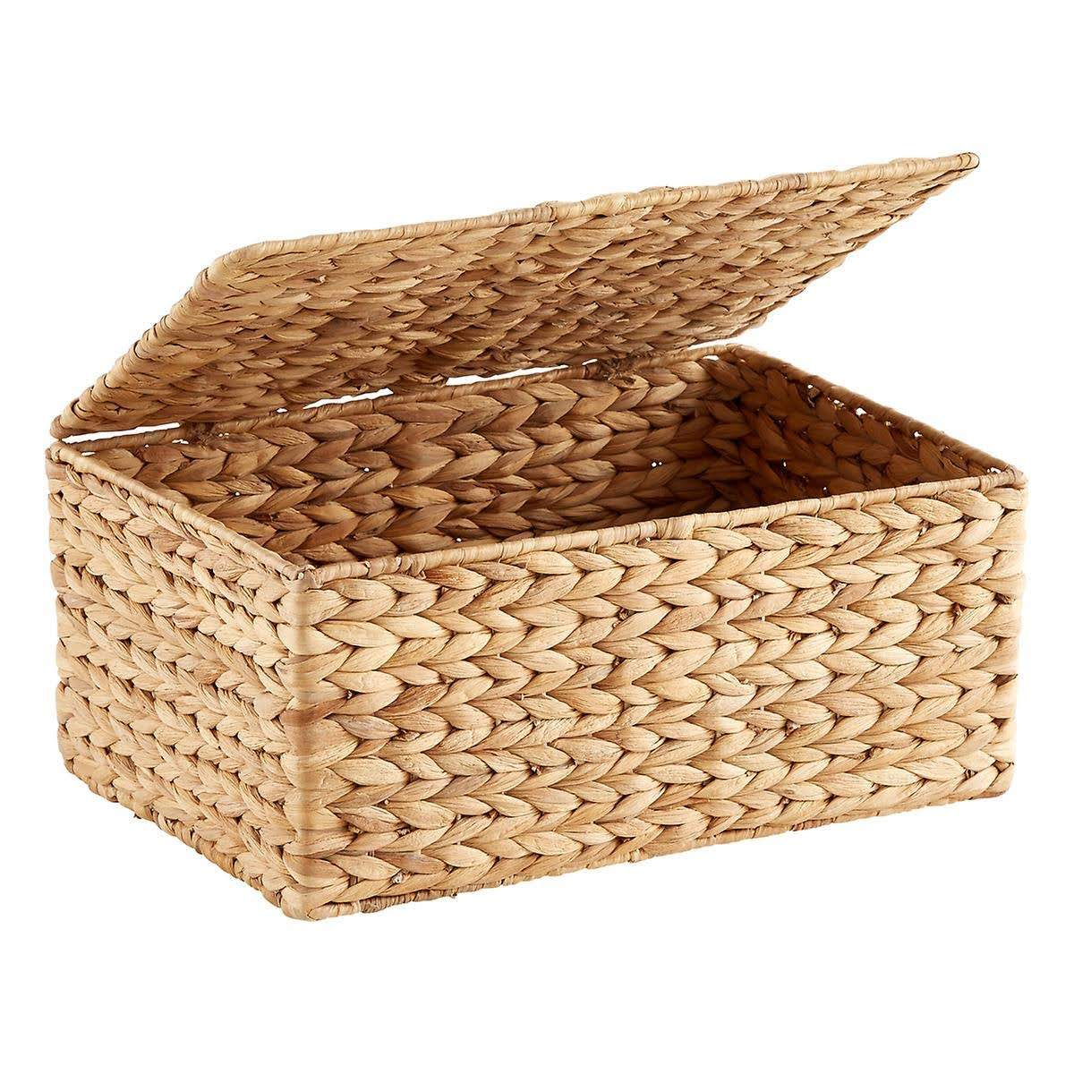 Hot Sale Vietnam Water Hyacinth Baskets With Metal Frame and Lid Eco-friendly High Quality Baskets for Multi-purpose Storage