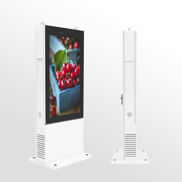 Waterdichte 55 Inch Outdoor Lcd Reclame Scherm Stofdicht Android Wifi 4G Digital Signage Tv Touchscreen Totem Kiosk