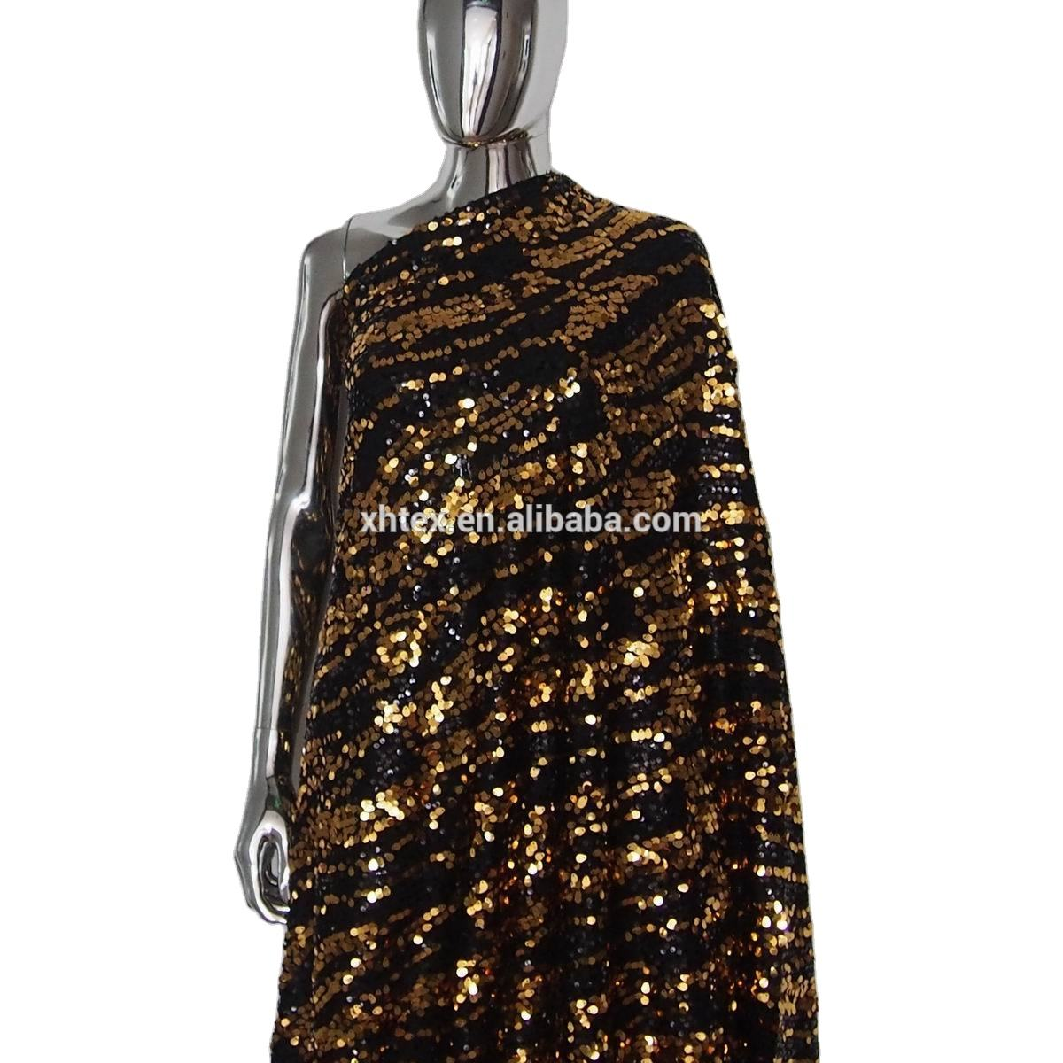 Ready Goods Special Oval Sequin Textile Sequin Embroidery On Mesh Fabric For Fashion Clothing