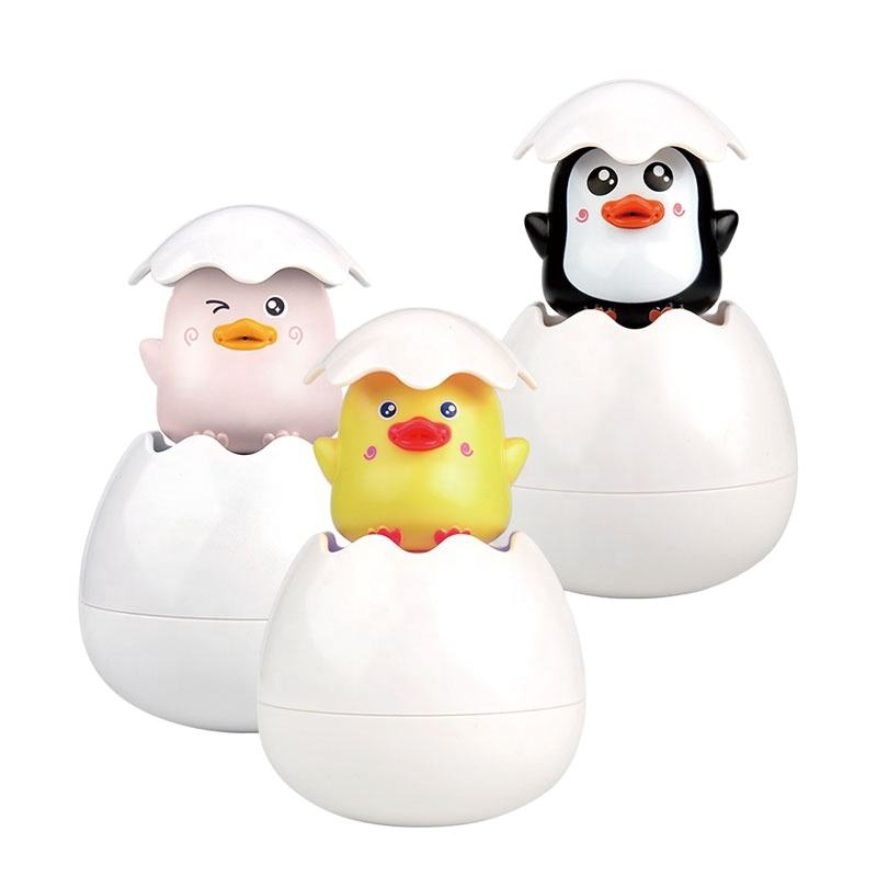 bathroom water spray toy kids floating animal cartoon egg dinosaur bath play toy for toddler bath playing