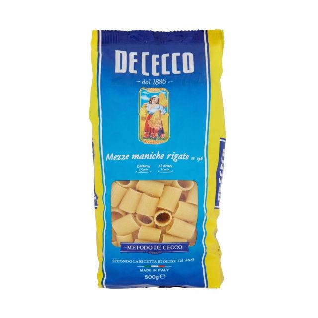 Made in Italy 500 g pasta De Cecco mezze maniche - available all formats pasta italiana Italia