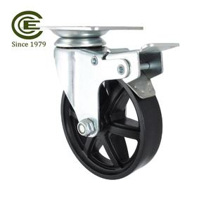 CCE Caster 4 Inch Large Industrial Furniture Steel Locking Caster Wheels