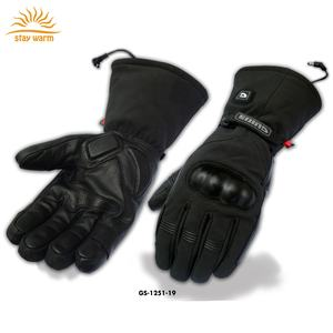 Custom High Quality Electric heating Leather Motorcycle Gloves