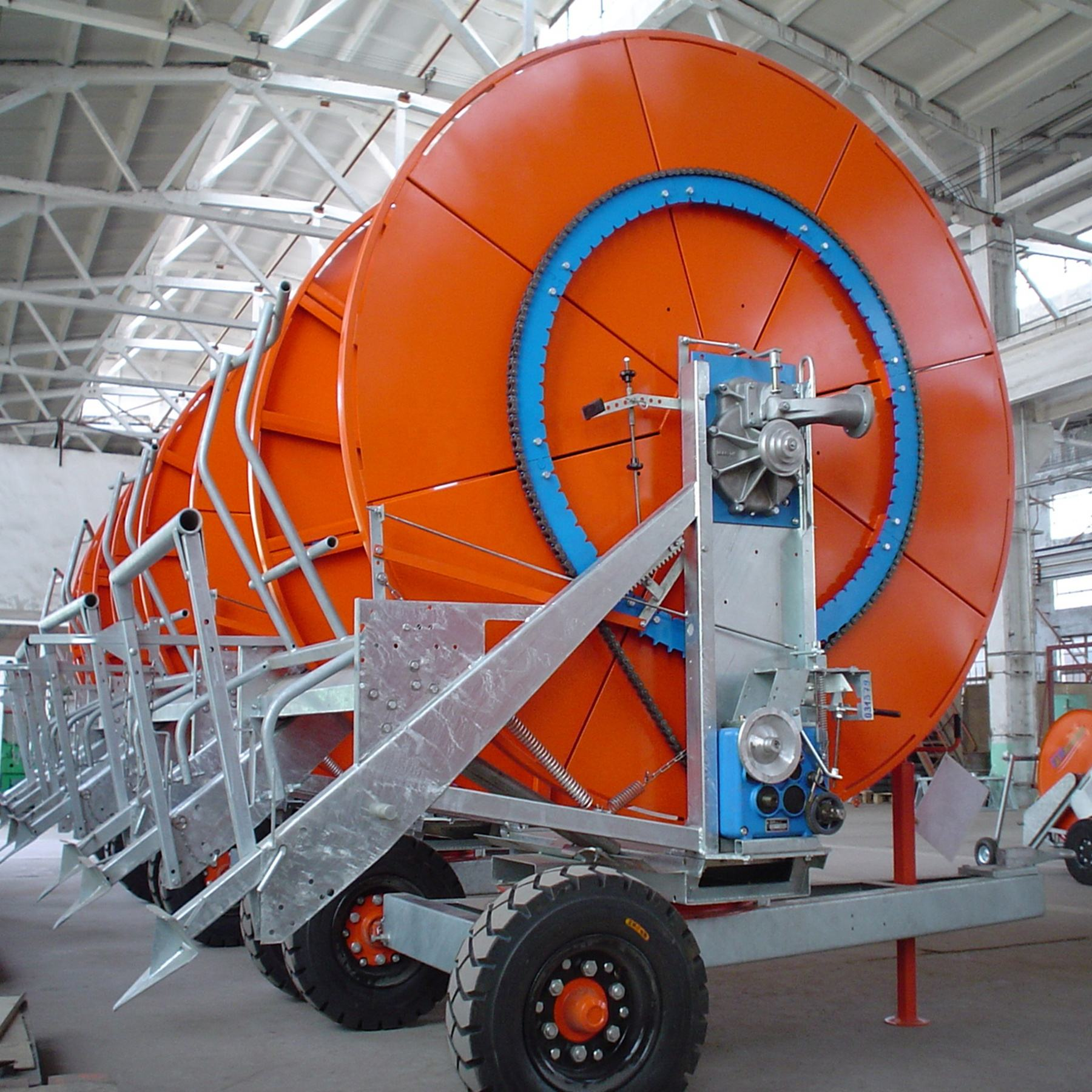 Thread Reel Winding Irrigation Machine For Farm Watering 75-320