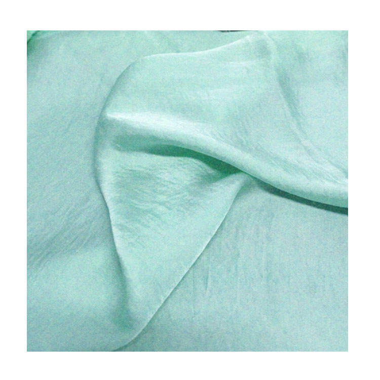 Luxurious and Elegant Aqua Satin Matte Finish Soft and Reversible 85 GSM 100% Polyester Chiffon Fabric