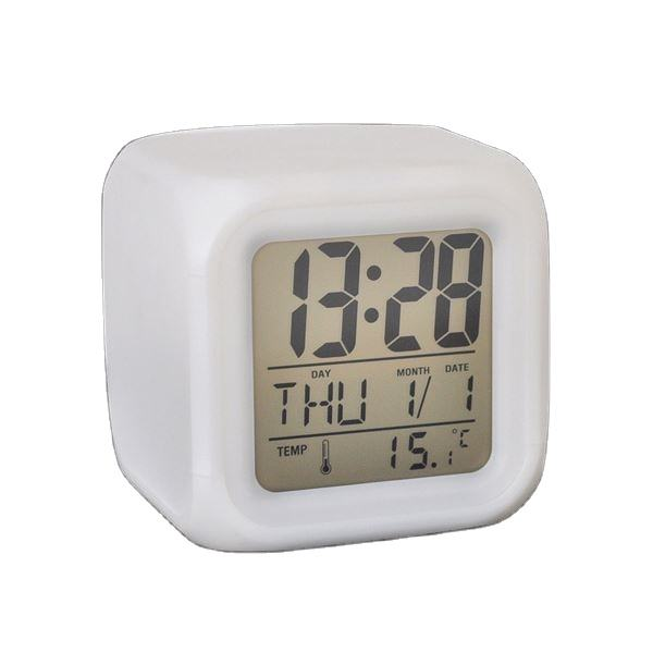 Zogift Glowing Led 7 Color Change Digital Alarm Clock