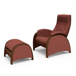 Armchair with footrest G2&P2 (Bordo, Taupe or Grey)