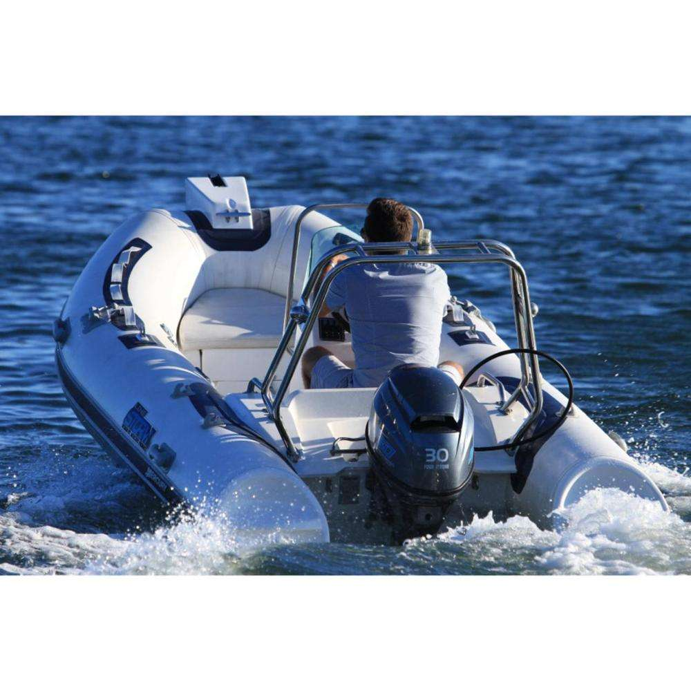 Inflatable RIB boat Stormline Luxe 420 fishing 1.6mm PVC rigid bottom CE certification