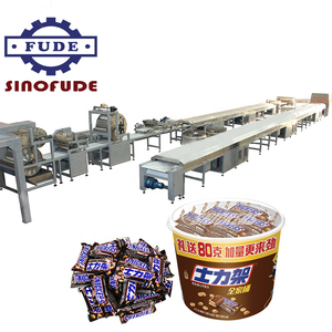 Snickers Chocolade Snickers Candy Bars Productielijn Machine/Cereal Nougat Energie Bar Making Machine