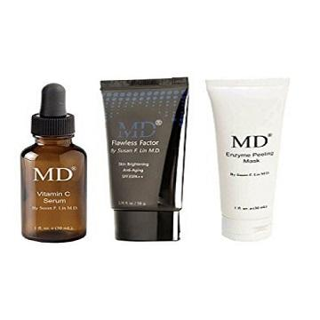 MD Beauty Essentials Bundle- Vitamin C Serum BB Cream with SPF35 and Enzyme Peel off