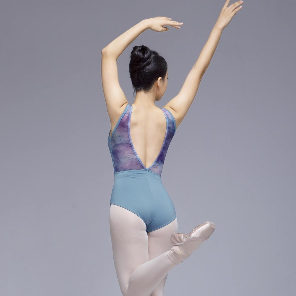 Ballet Gymnastic Performance Wear Digital Print Mesh Women Leotards