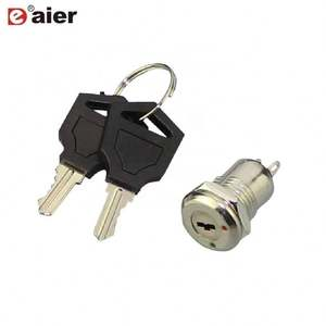 Keylock 12mm SPST 2pin Soldering Terminal ON-OFF Car Key Lock Remote