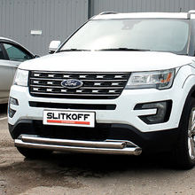 Polished stainless steel body guard for Ford Explorer
