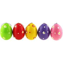 Azhna Christmas and Easter Wooden Ornaments Set, 5 Eggs, NPvz-01