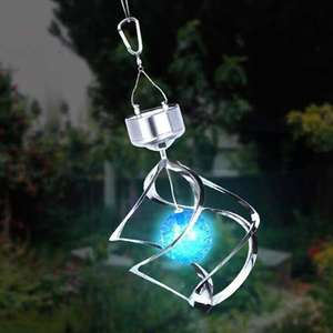 2020 neue modell solar mobile wind chime licht lampe dekoration für park landschaft rasen indoor wasserdichte Solar Powered LED lampe