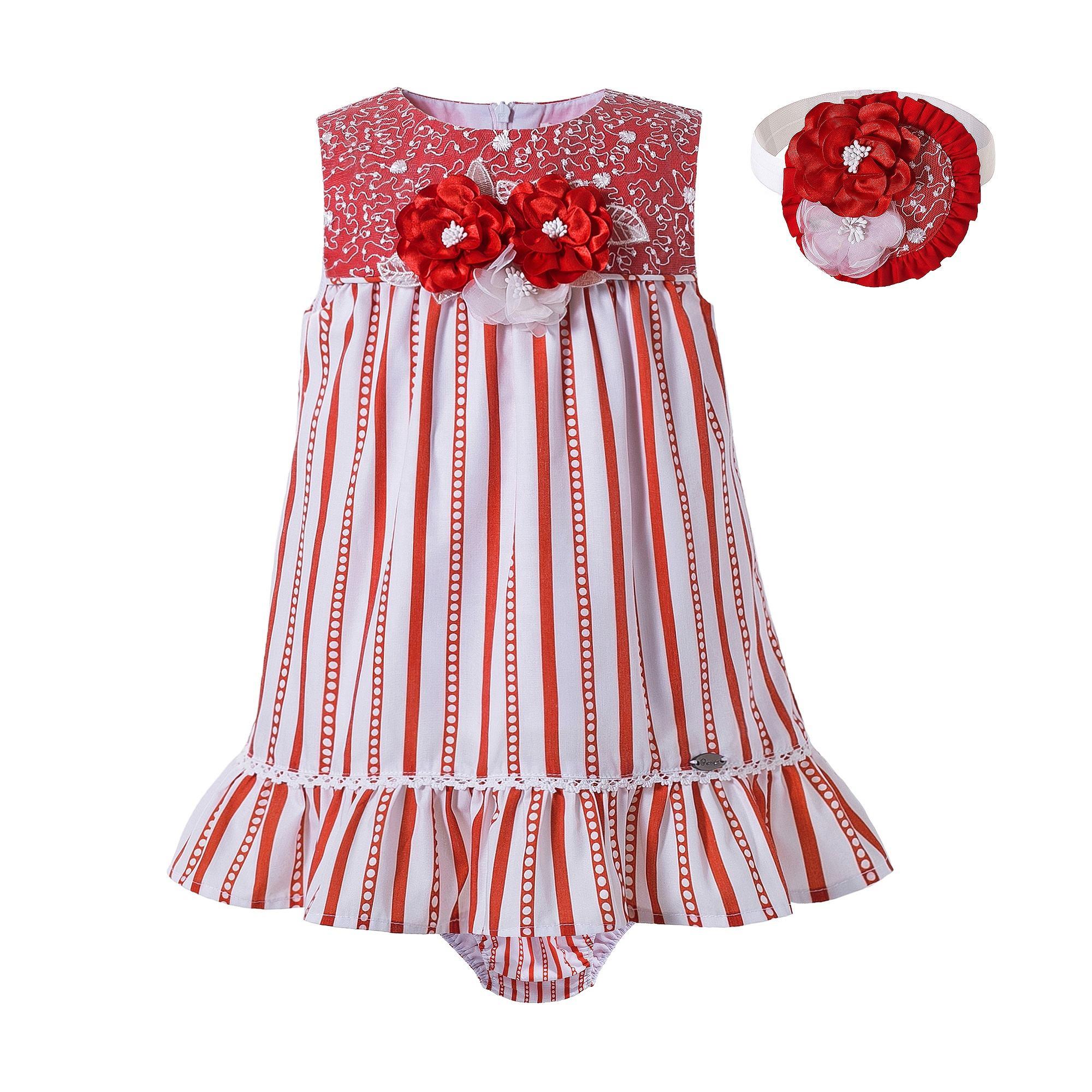 2020 جودة عالية Pettigirl الاطفال ملابس الفتيات مجموعات بلا أكمام فستان مخطط وردي للفتيات الصغيرات