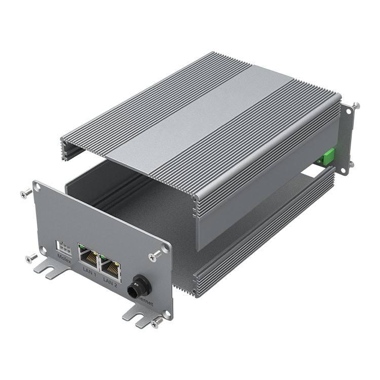 YONGU H18 106-54mm Solargenerator Box Kundenspezifisches GPS-Tracking-Gehäuse Aluminium-Profilgehäuse