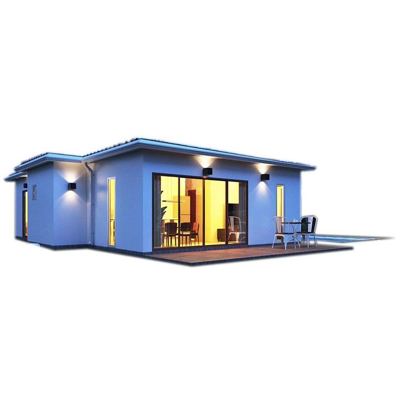 UPS estructura de acero edificios y cobertizo de cemento casa fabricante casa prefabricada villa de acero ligero nueva llegada