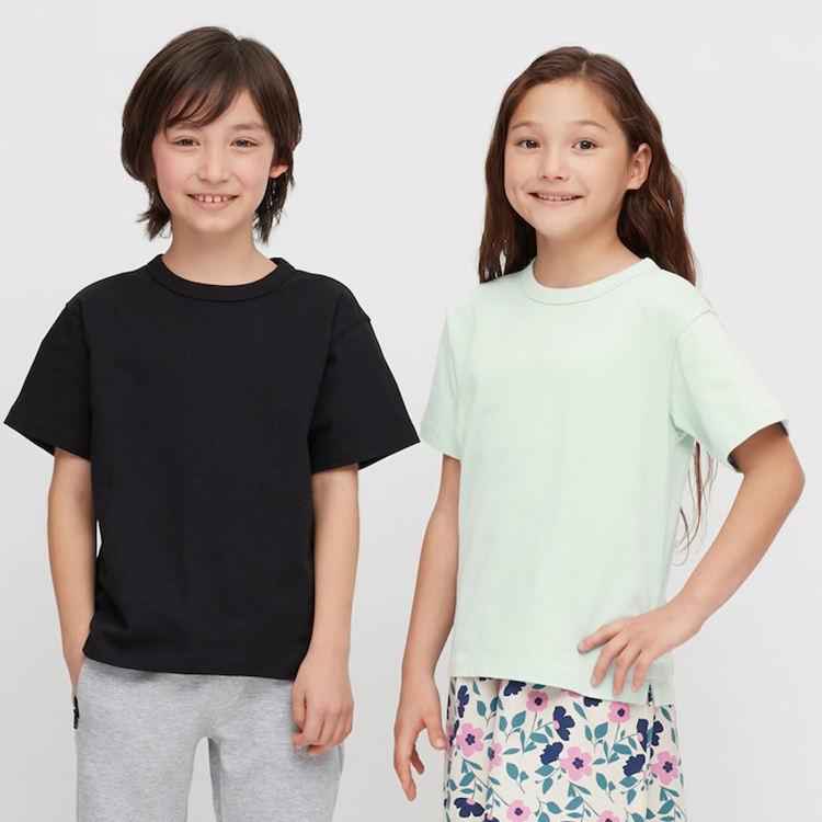 Однотонная футболка унисекс из Джерси футболка с короткими рукавами и круглым вырезом для маленьких девочек