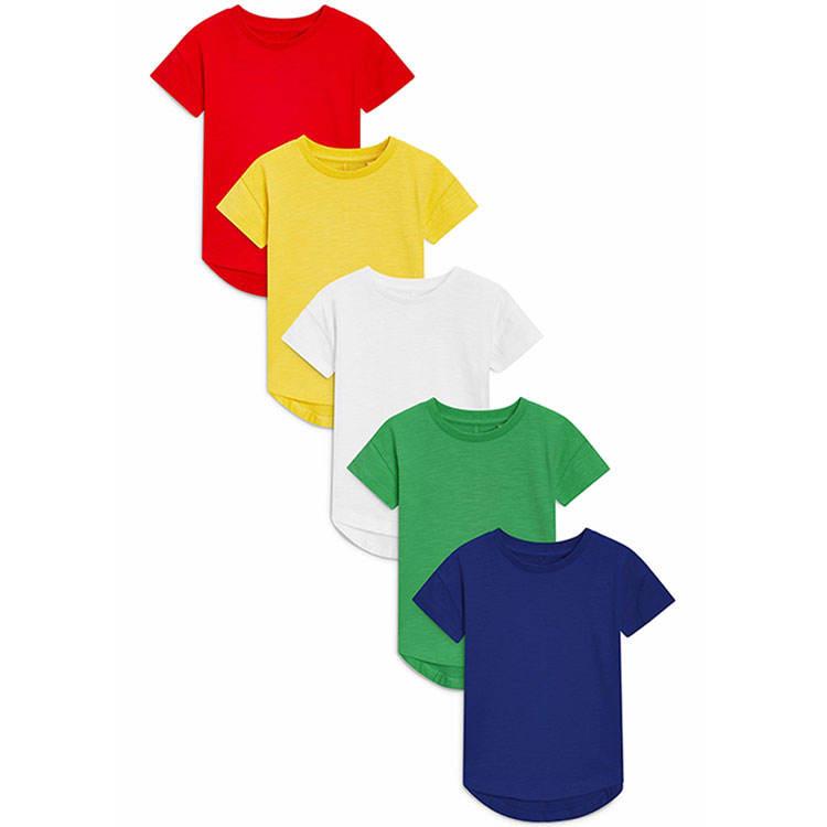 Популярные однотонные Детские футболки из 100% хлопка оптом летние детские футболки с коротким рукавом без рисунка