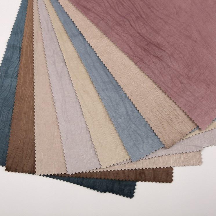 Mode moderne look naturel polyester espagne gaufrage rideau tissu de <span class=keywords><strong>velours</strong></span>