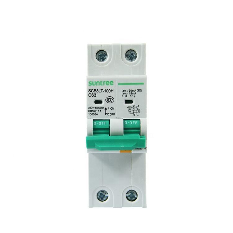 Suntree Hersteller 2 Pole Rest Schaltung Gerät RCB