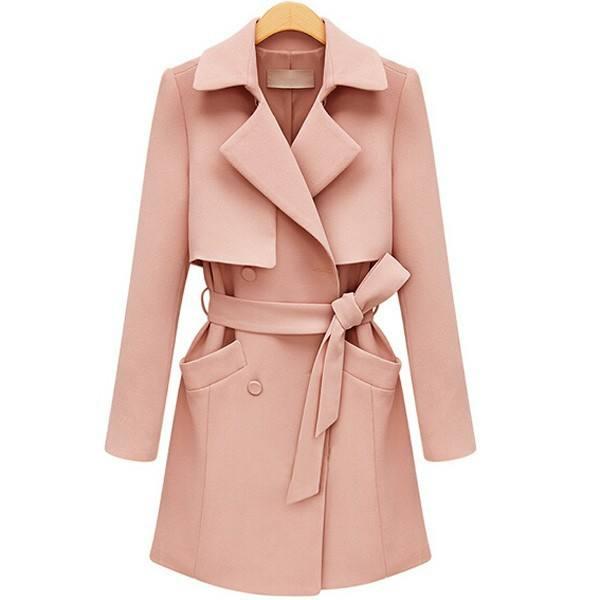 2019 venda quente double-layer atacado mulher casaco de manga longa xale gola do casaco trench coat com cinto