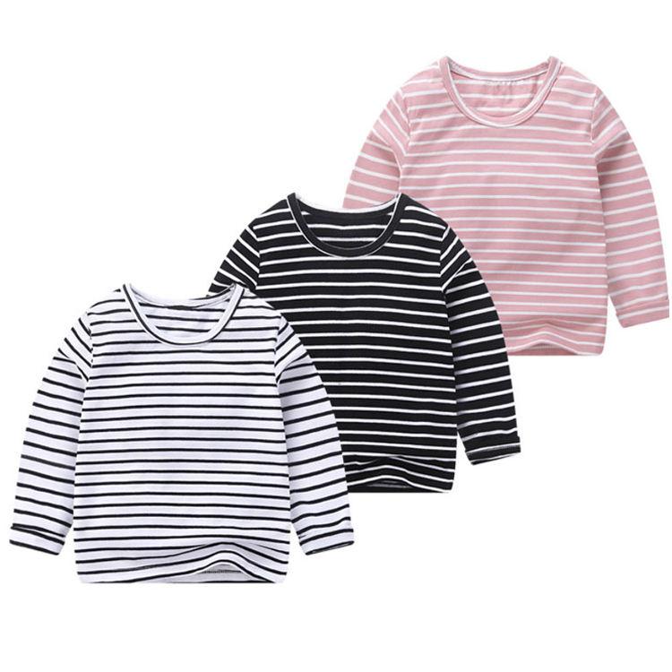 с длинными рукавами в разноцветную полоску из 100% хлопка с круглым вырезом; Детский свитер; футболка для мальчиков