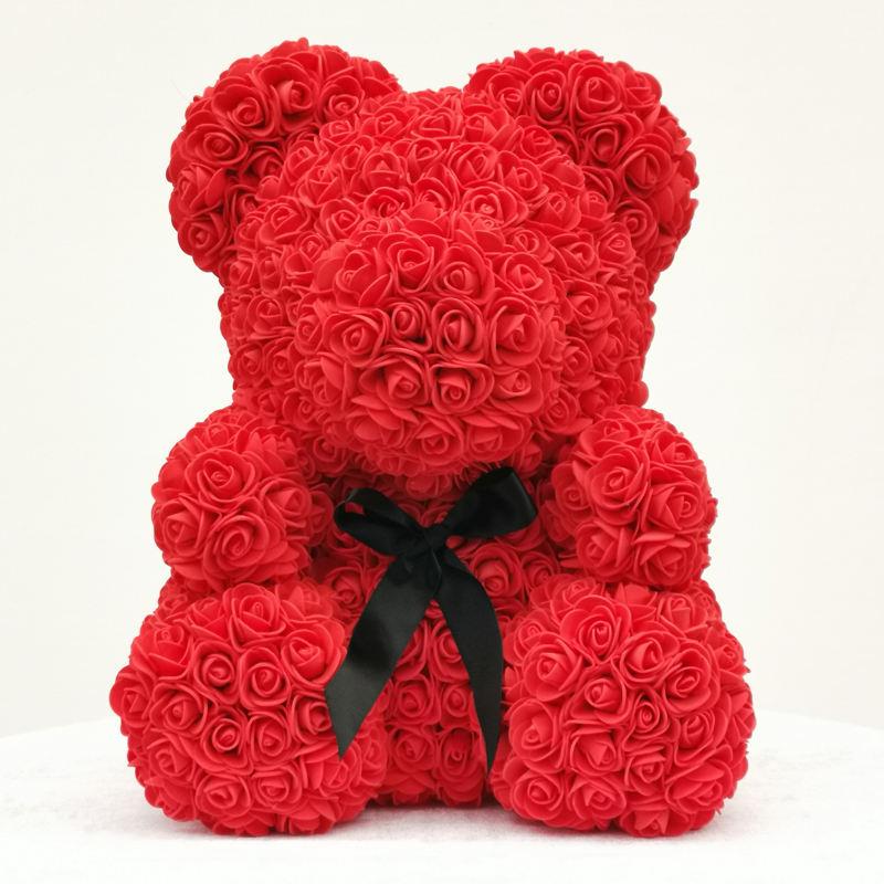 Gül Ayı Teddy Bear Cub Sonsuza Yapay Gül Ayı Yıldönümü Noel Sevgililer Hediye için