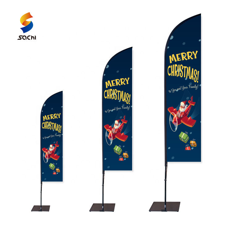 Strand Vlag Met Stand Polyester Flying Outdoor Strand Vlag Reclame Veer Vlag Voor Marketing