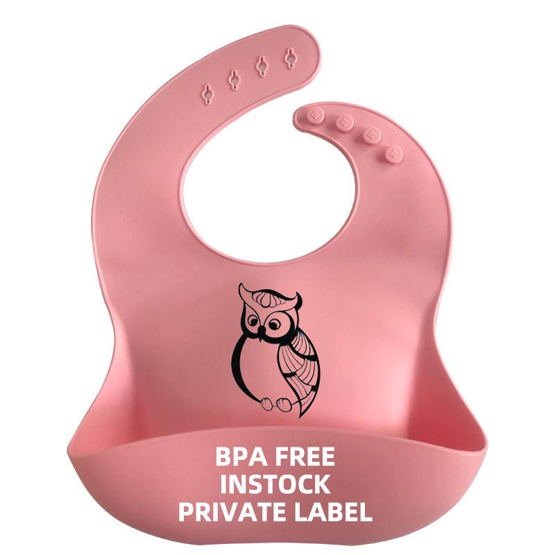 <span class=keywords><strong>Ni</strong></span>ños al por mayor de encargo 2021 que alimentan los baberos impermeables libres del bebé del silicón del maniquí de Bpa