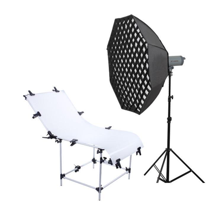 Foto de mesa de luz de estudio de fotografía equipo fotográfico estudio de rodaje de foto de estudio de fotografía