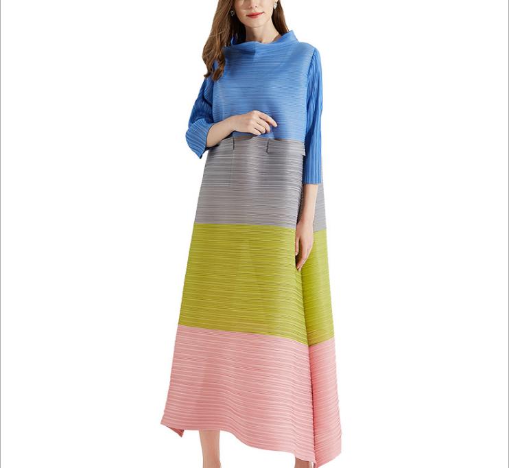 Gran oferta vestido plisado holgado para mujer de talla grande elegante Maxi último diseño africano