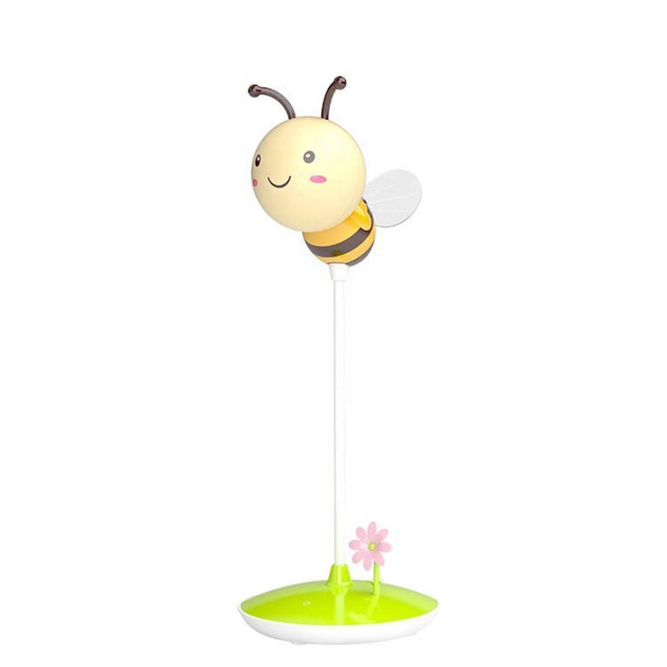 LED de protección de los ojos noche lámpara creativa USB de carga de luz ajustable de dibujos animados de bee lámpara táctil