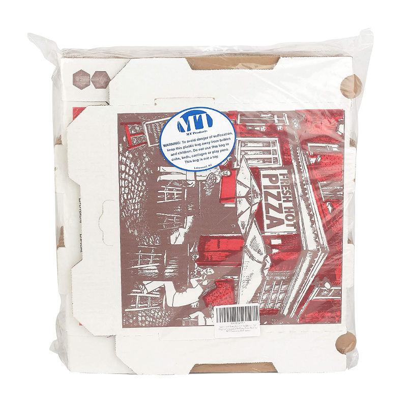 Çin fabrika üretmek beyaz Kraft kağıt Pizza kutusu ambalaj