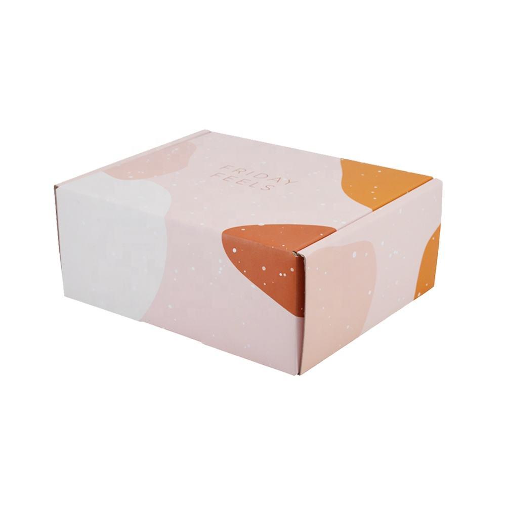 Bai Wo nueva marca de logotipo impreso plegable corrugado reciclado de papel de Kraft de embalaje de caja de cartón de envío de correo