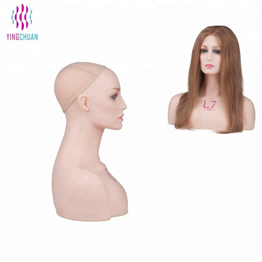 Female wigs display head mannequin