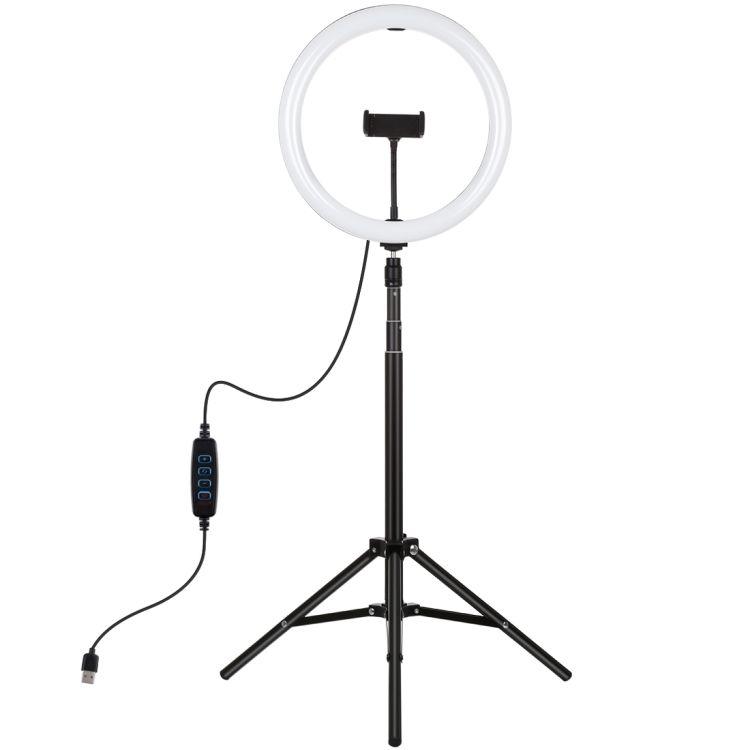 شحن سريع بولوز 1.65 متر ترايبود جبل 11.8 بوصة 30 سنتيمتر USB LED حلقة تسجيل الفيديو الضوئي