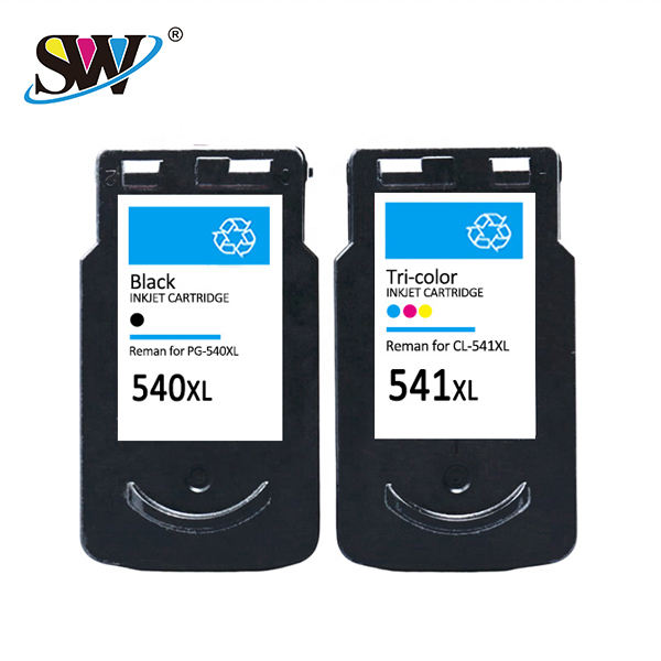 Senwill factory recycled wholesale inkjet cartridge 540 541 premium quality for <span class=keywords><strong>CANON</strong></span> printers cartridge ink