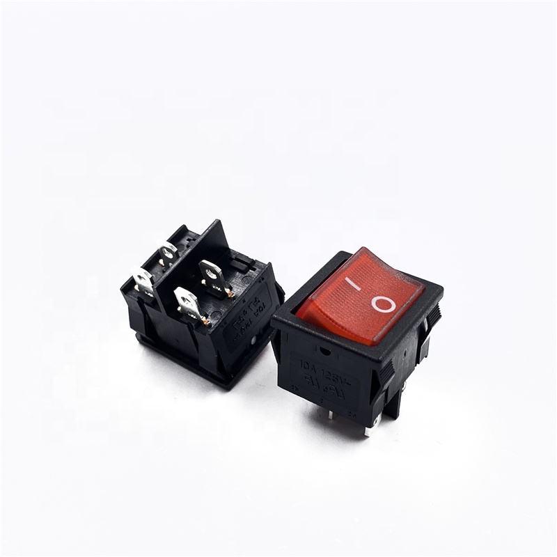 저렴한 ON-OFF 전원 전기 히터 스위치 레드 LED 조명 4pin 250v <span class=keywords><strong>6A</strong></span> 조명 로커 스위치 테스트 JS-608FAL-0-RB-2