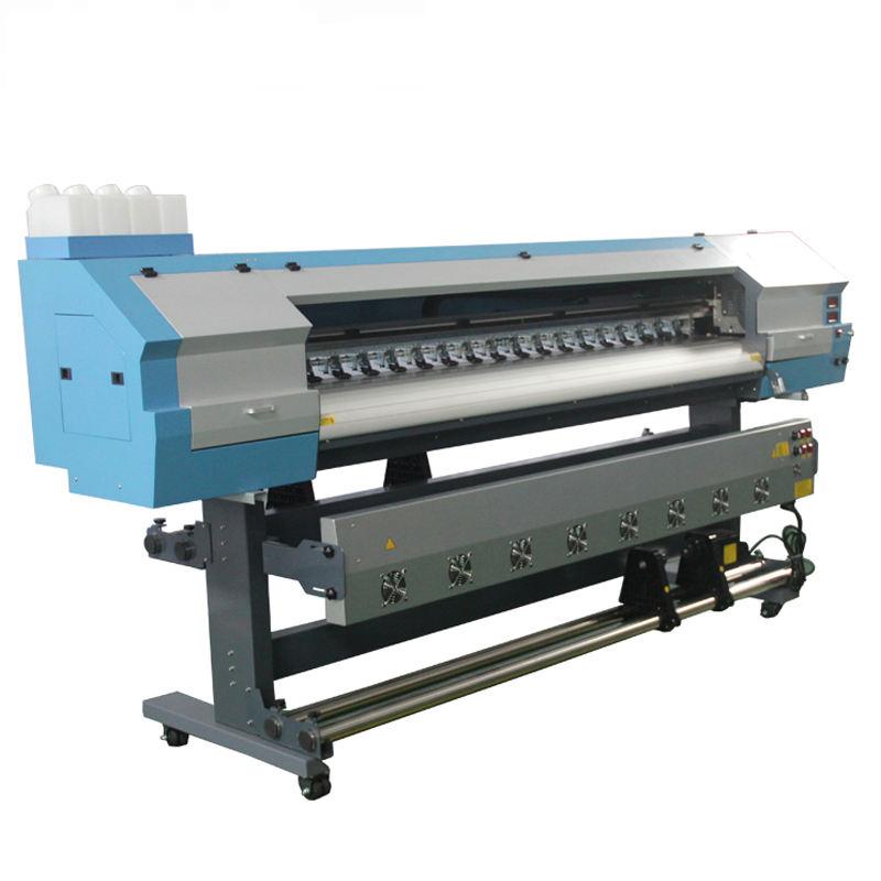 تنسيق واسعة مزدوجة رئيس xp600 1.8m الطابعة الإيكولوجية المذيبة لل لافتة مرنة مثنية الطباعة